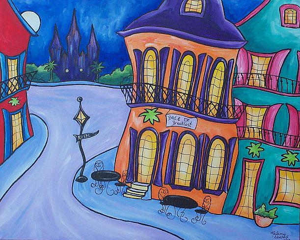 Art: Royal Street Bed & Breakfast by Artist Melanie Douthit