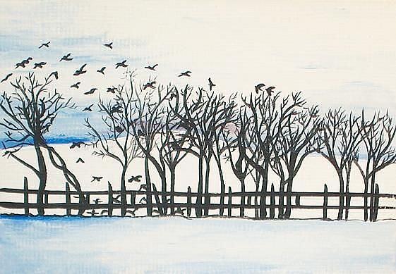 Art: Winter Day by Artist Meredith Estes