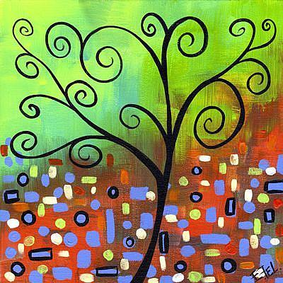 Art: Swirl Tree by Artist Elena Feliciano