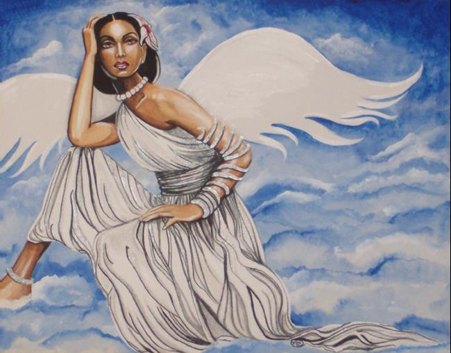 Angels in The Clouds Painting Art Angels in The Clouds by