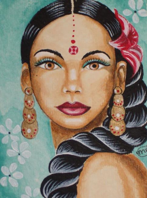 Art: Sushma Beautiful Woman by Artist Meredith Estes