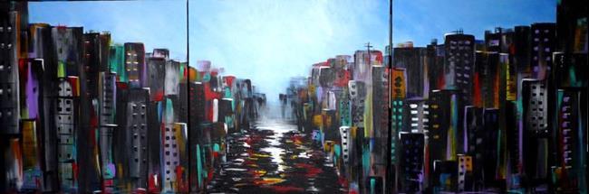 Art: The City by Artist Elena Feliciano
