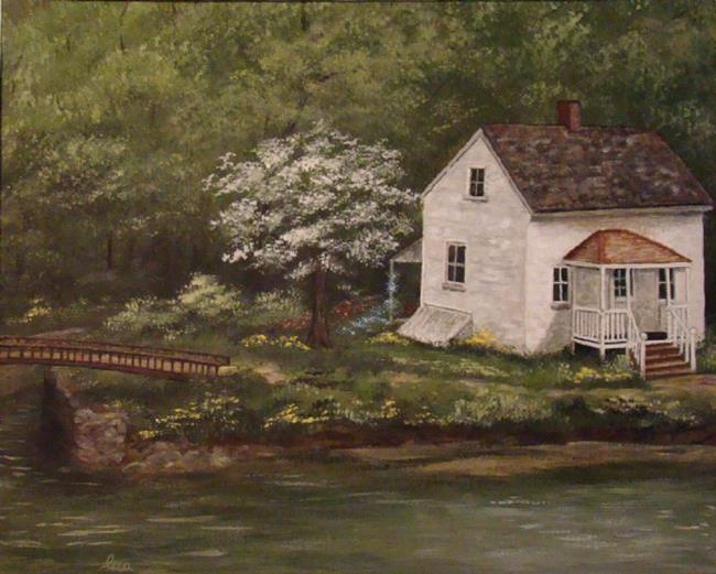 Art: Lock 8  C&O Canal by Artist Leea Baltes