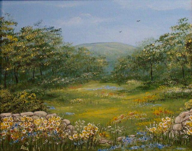 Art: Sugarloaf Meadow by Artist Leea Baltes
