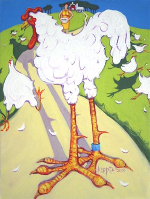 Art: Chicken Big by Artist Rebecca Stringer Korpita
