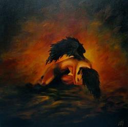 Art: Fallen Angel by Artist Christine E. S. Code ~CES~