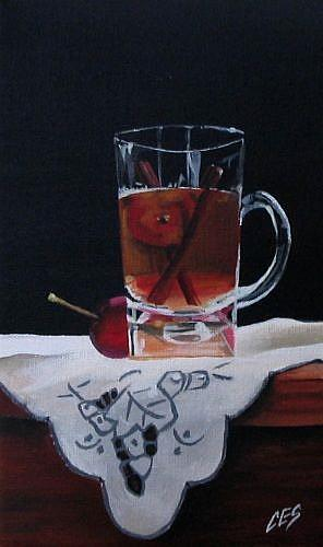 Art: Crab Apple Tea by Artist Christine E. S. Code ~CES~