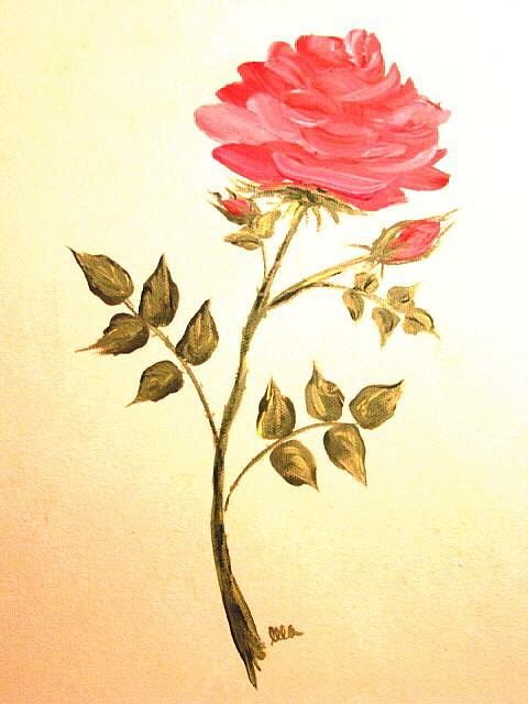 Art: Ella's Rose by Artist Leea Baltes
