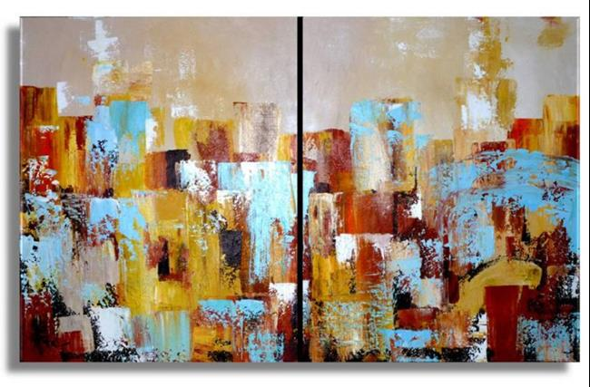 Art: Cityscape #2 by Artist Elena Feliciano