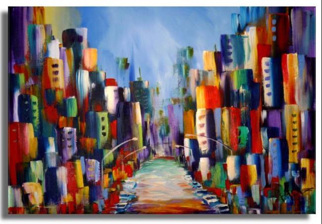 Art: Cityscape #4 by Artist Elena Feliciano