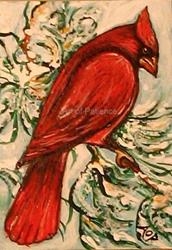 Art: ACEO Theme Week: Red by Artist Patience
