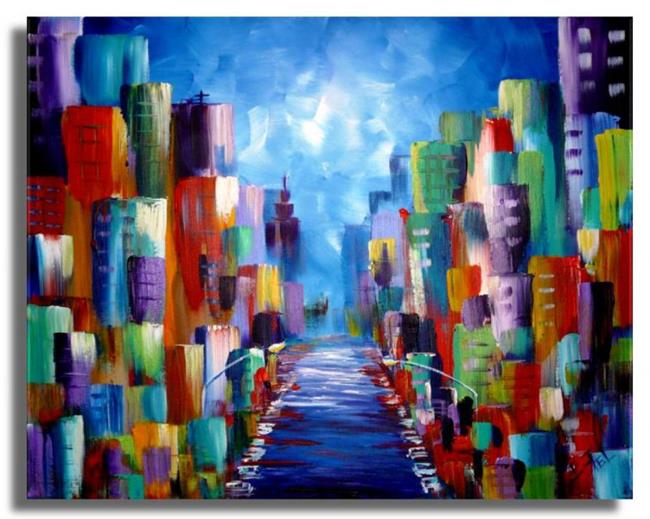Art: Cityscape #6 by Artist Elena Feliciano