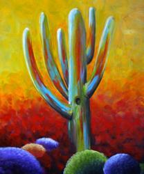 Art: Saguaro Cactus by Artist Elena Feliciano