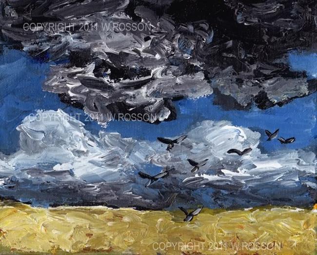 Art: Black Birds 1 by Artist Windi Rosson