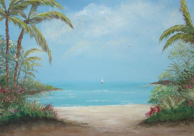 Art: A Day in the Tropics by Artist Leea Baltes