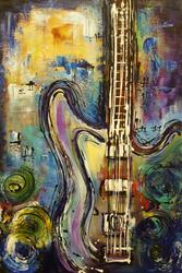 Art: Electric Guitar by Artist Elena Feliciano