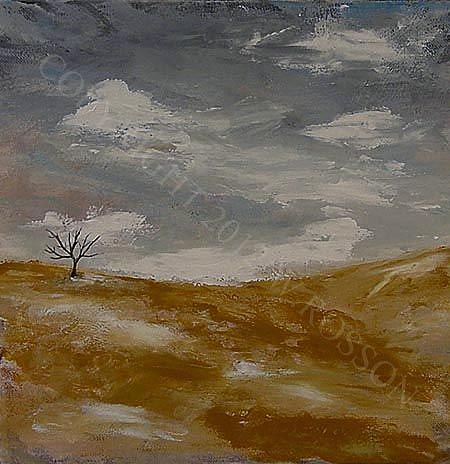 Art: Cold Winter Day by Artist Windi Rosson