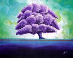 Art: Wisteria Tree by Artist Elena Feliciano