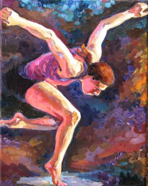 Art: The Dancer by Artist Luda Angel
