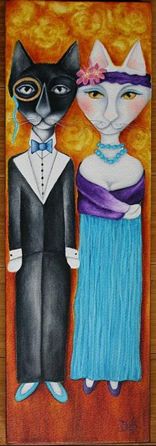 Art: Batman and Lily by Artist Deb Harvey