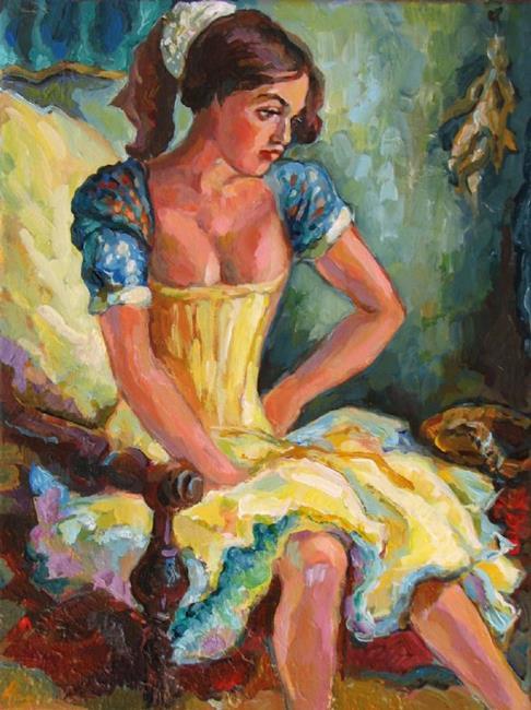 Art: Dancer in yellow by Artist Luda Angel