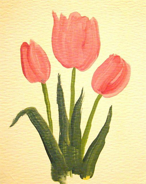Art: Pink Tulips by Artist Leea Baltes