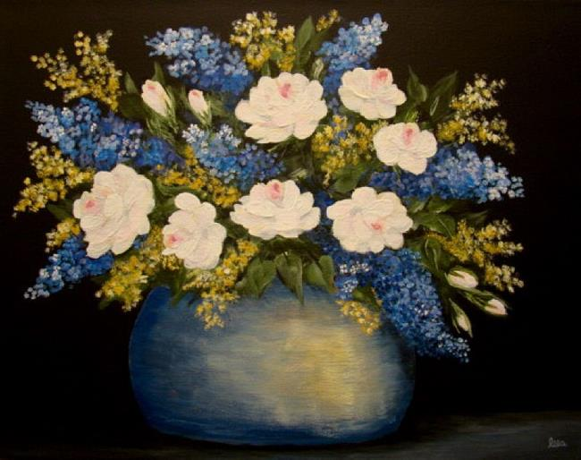 Art: Shades of Blue by Artist Leea Baltes