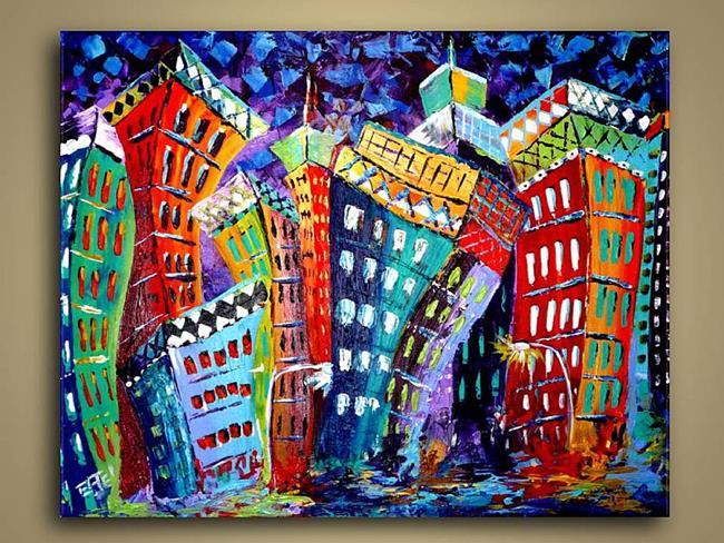 Art: Slick City by Artist Elena Feliciano