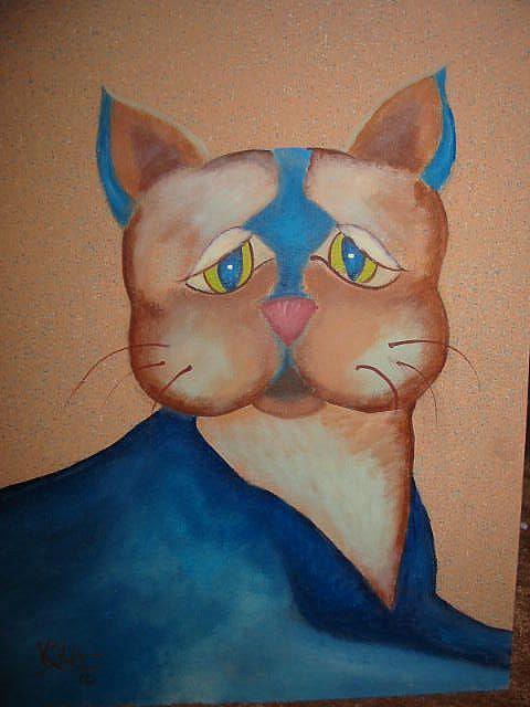 Art: Sad Cat by Artist KikaD