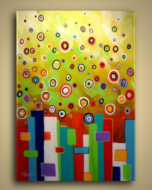 Art: City Bubbles No8 by Artist Elena Feliciano