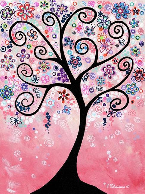 Art: Pink Tree by Artist Elena Feliciano