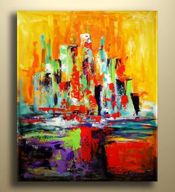 Art: City by the Sea by Artist Elena Feliciano