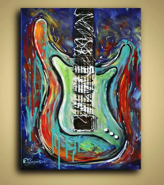 Art: Guitar Abstract by Artist Elena Feliciano