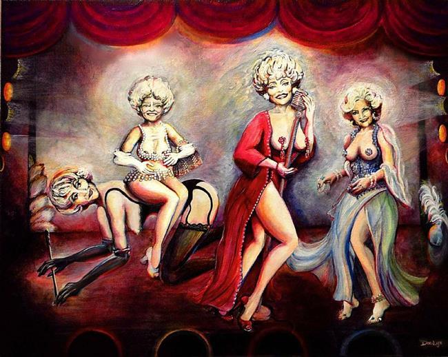 Art: A Little Golden Girls Burlesque by Artist Doe-Lyn