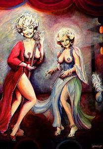Detail Image for art A Little Golden Girls Burlesque