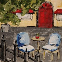 Art: Red Door Cafe by Artist Windi Rosson