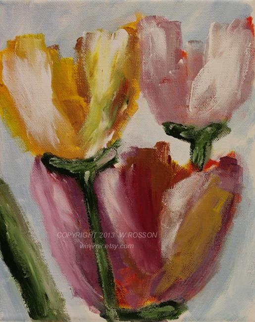 Art: Moms Tulips by Artist Windi Rosson