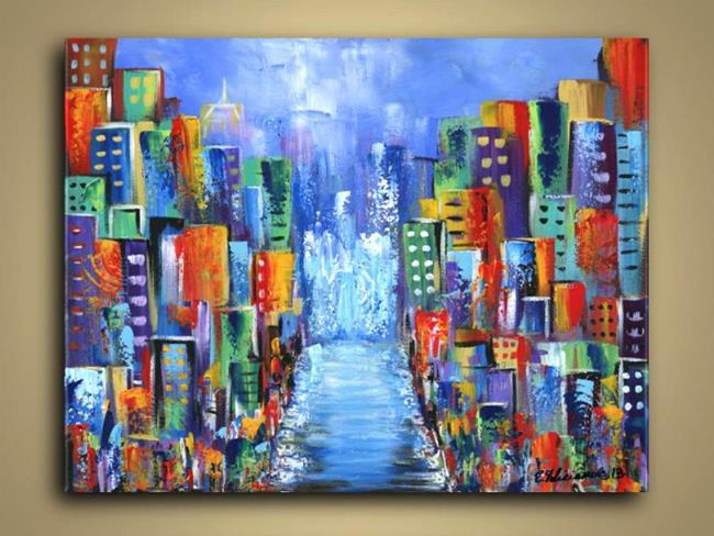 Art: City Blue Euphoria by Artist Elena Feliciano