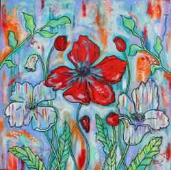 Art: True Colors - Poppies by Artist Melanie Douthit