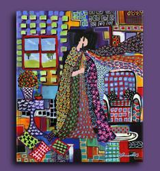 Art: An Evening at Home by Artist Elena Feliciano