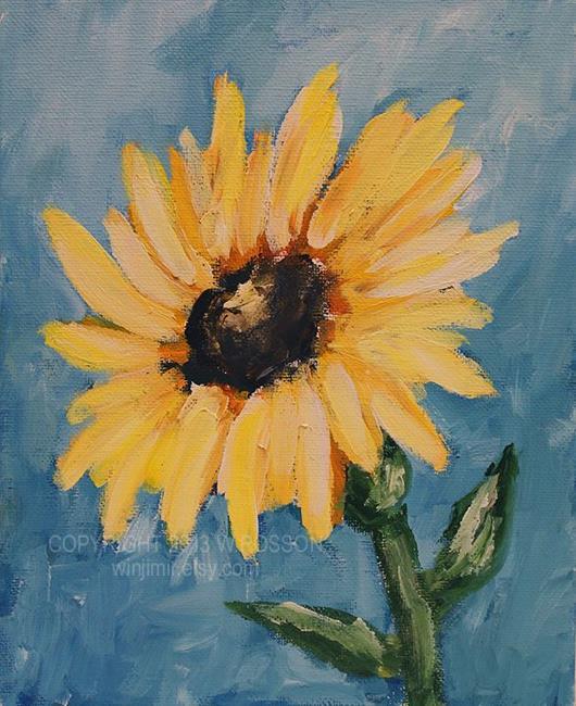 Art: Sunflower Study #1 by Artist Windi Rosson