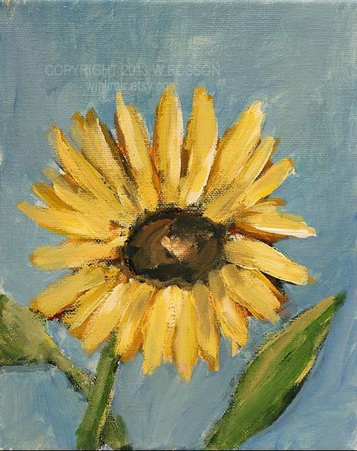 Art: Sunflower Study #2 by Artist Windi Rosson