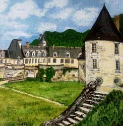 Art: FRENCH CHATEAU by Artist Julie Jules