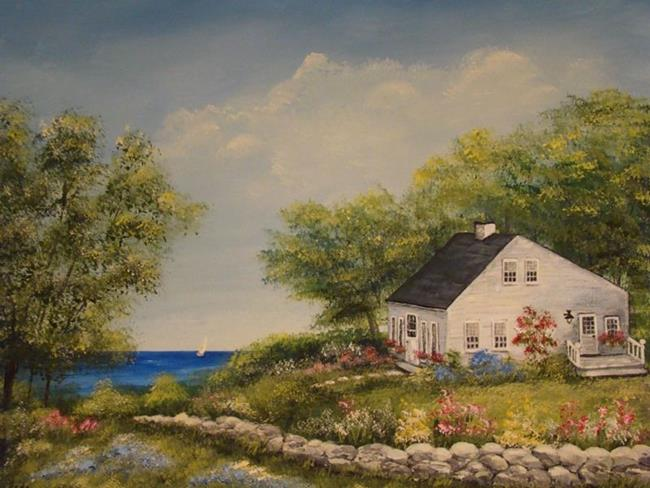 Art: Cottage By The Lake by Artist Leea Baltes