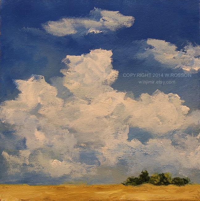 Art: June Clouds #1 by Artist Windi Rosson