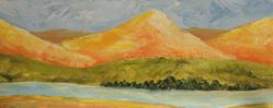 Art: Peach Peaks by Artist Windi Rosson