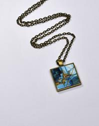 Art: Urban Blue Abstract ~ Wearable Art by Artist Dana Marie