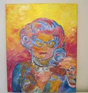 Detail Image for art Dame Edna Drag Queen Fun Original Pop Art Portrait Pop Art