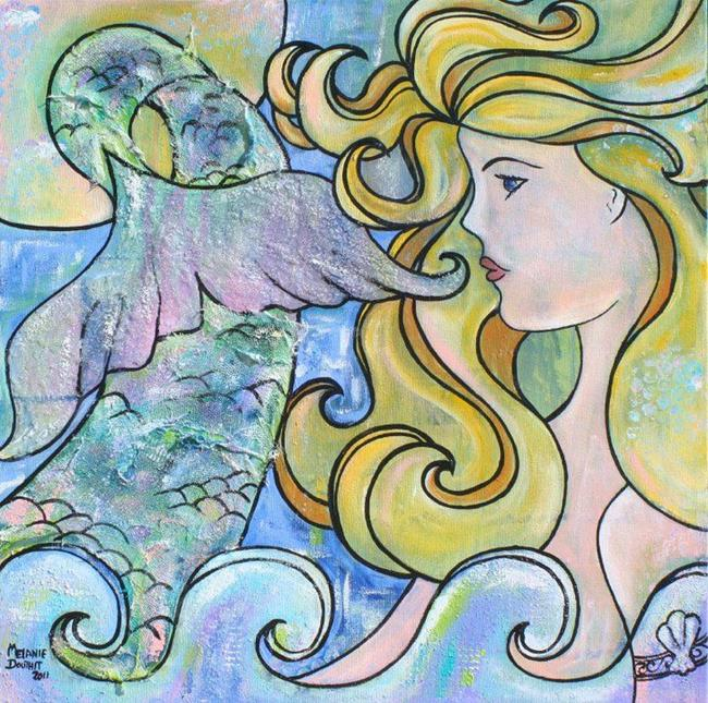Art: Mermaid Moon No. 1 by Artist Melanie Douthit