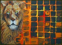 Art: LION by Artist Laura Barbosa